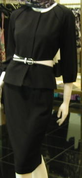 black-skirt-suit-with-white-belt